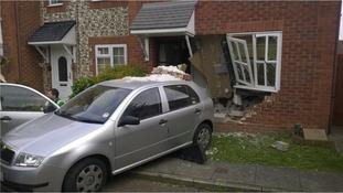 Car in house at Heybridge