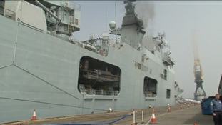 All aboard for HMS Ocean open day