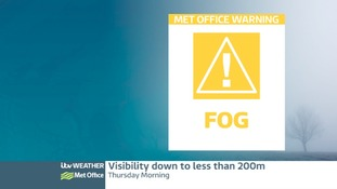 Weather Warning issued for dense fog patches