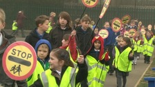 Children do sponsored walk to keep their Lollipop Lady