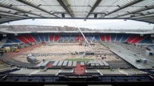 Hampden Park's transformation in one minute
