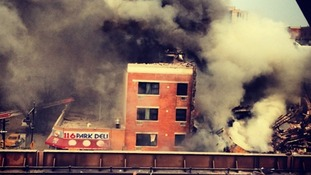 Building collapses in Harlem