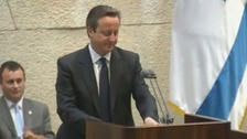 David Cameron addresses Israel's parliament, the Knesset.