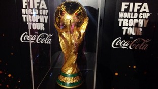 World Cup trophy arrives in UK - first stop, Southend