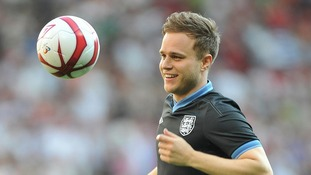 Olly Murs at Old Trafford for Soccer Aid