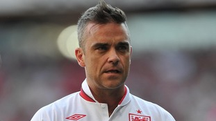 Robbie Williams at Soccer Aid