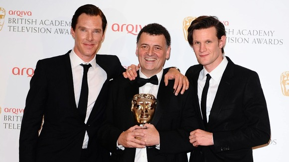 Benedict Cumberbatch, Steven Moffat with the Special Award and Matt Smith 