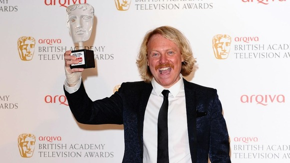 Leigh Francis with the YouTube Audience Award for Celebrity Juice