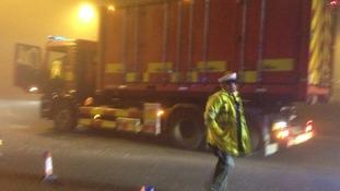 Police have set up a cordon around the crash site