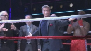 Sylvester Stallone at the opening of the Rocky musical in New York