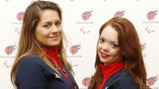 Jade Etherington (right) with her guide Caroline Powell