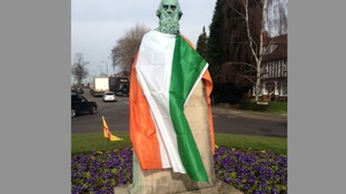 This statue along the Chester Road in Erdington has been all dressed up ready for the occasion