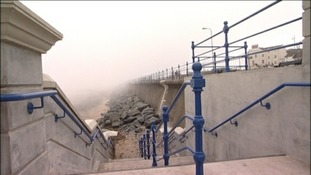 New sea defences for coastal town