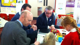 Michael Gove visited a number a of East Midland schools today
