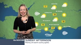 A warm and sunny weekend weather forecast