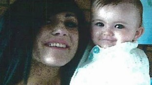 Stacey Ball with her one-year-old baby daughter Lola Page, the day Ms Ball took her child during a supervised foster visit and disappeared
