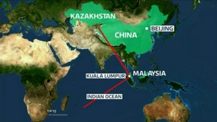 Authorities are investigating two potential corridors in their search for the missing Malaysia Airlines flight MH370.