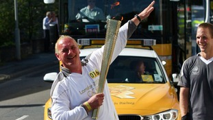 Douglas Bancroft with his torch