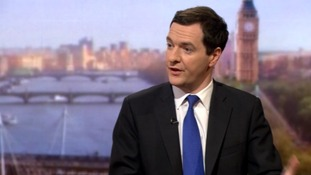George Osborne says the government has planned a 1% increase in the 40p tax rate.