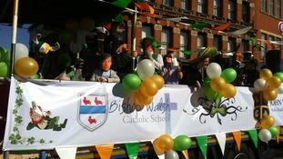 School children celebrate St Patrick's Day