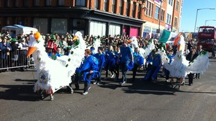 St Patrick's Day Parade in Birmingham