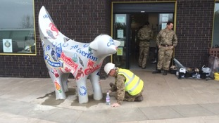 Soldiers working at the Rhys Jones Centre