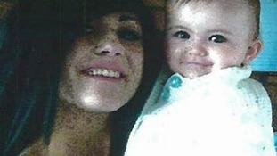 18-year-old Stacey Ball and baby Lola Page before the child's disappearance