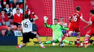 Johan Elmander scores his first Premier League goal for Norwich City.