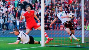 Sam Gallagher seals the win for Southampton.