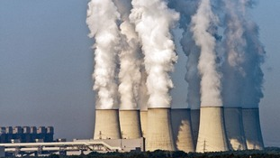 Smoke rises from factories in Germany