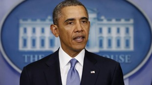 U.S. President Barack Obama speaks about the crisis in Ukraine.