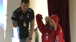 Walking with the Wounded adventurer visits Suffolk school