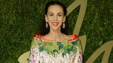 Fashion designer L'Wren Scott at the British Fashion Awards in December 2013.