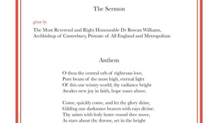 The Sermon  and Anthem