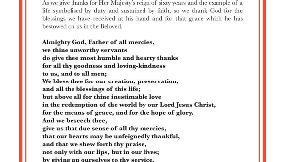The Litany of Prayer and Thanksgiving