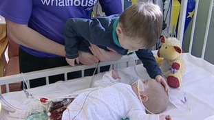 Babies like Ryan are forced to wait for an organ donor as their are not enough available.