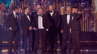 Michael Steer and other teachers from the school featured on Educating Yorkshire at the National Television Awards.