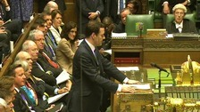 Chancellor of the Exchequer George Osborne delivers his Budget.