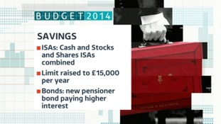 The Chancellor announced changes to savings.