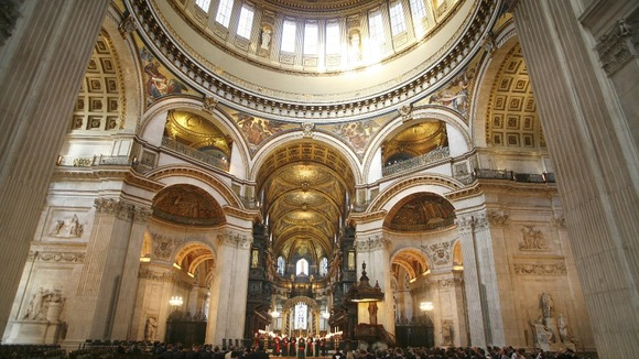 An interior view of St Paul's Cathedral