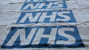NHS signs.