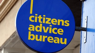 File photo of a sign above a Citizens Advice Bureau in Nottingham.