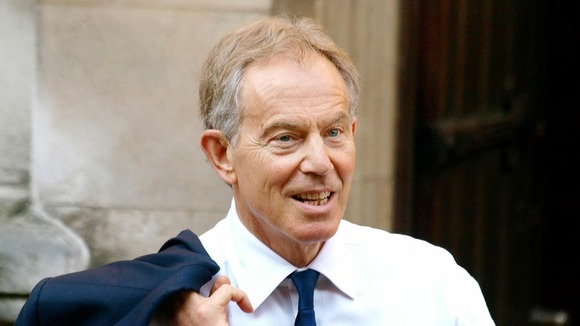 Former Prime Minister Tony Blair arrives at the Leveson Inquiry. 