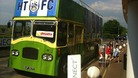 Parade bus outside the Galpharm