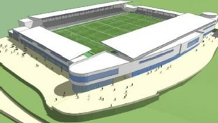 artists impression of Cornwall Stadium