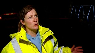 Lady in hi-vis jacket
