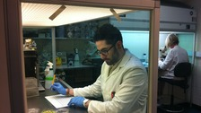 A scientist at Rothamsted Research