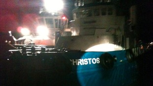 Christos XXII, the tug that CPO Neil Halsey helped to salvage