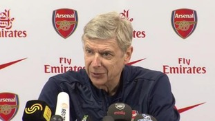 Arsene Wenger talks to reporters ahead of his 1,000th game in charge of Arsenal