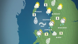 Friday afternoon weather map for the NW